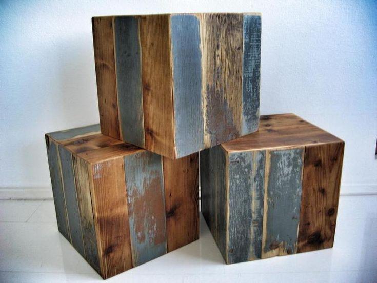Kubussen gemaakt van pallethout