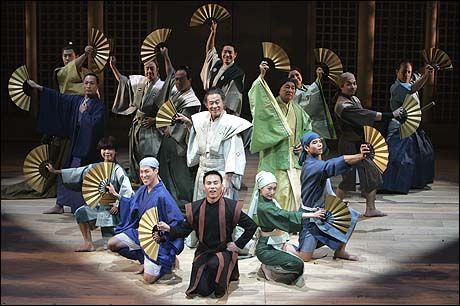 B.D. Wong (center) and the company of Pacific Overtures