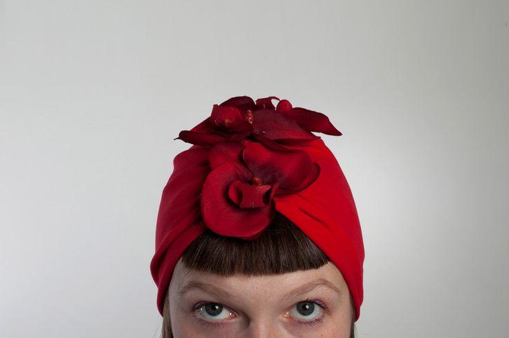 Turbante con fiore. Vintage style! di LucyvanFelt su Etsy