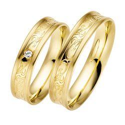 Pæne vielsesringe i 8 karat guld