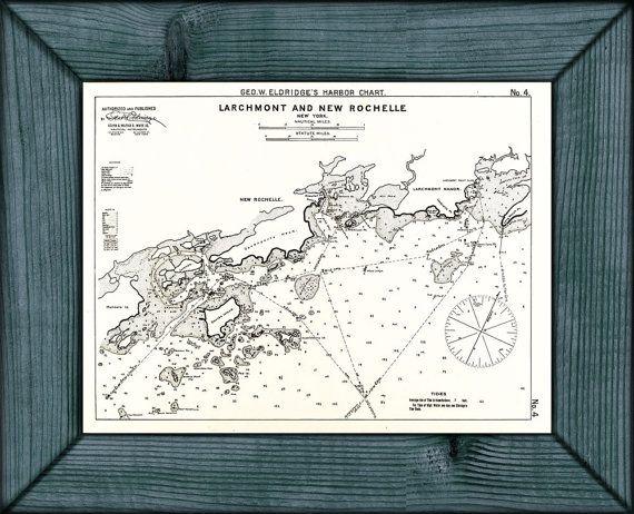 Vintage Larchmont & New Rochelle New York Map 1901 by ClavinInc