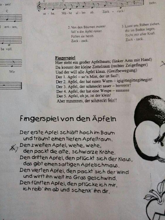 Bildergebnis für gedicht apfel schule