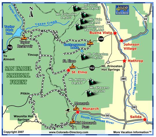 Snowm Colorado Map on
