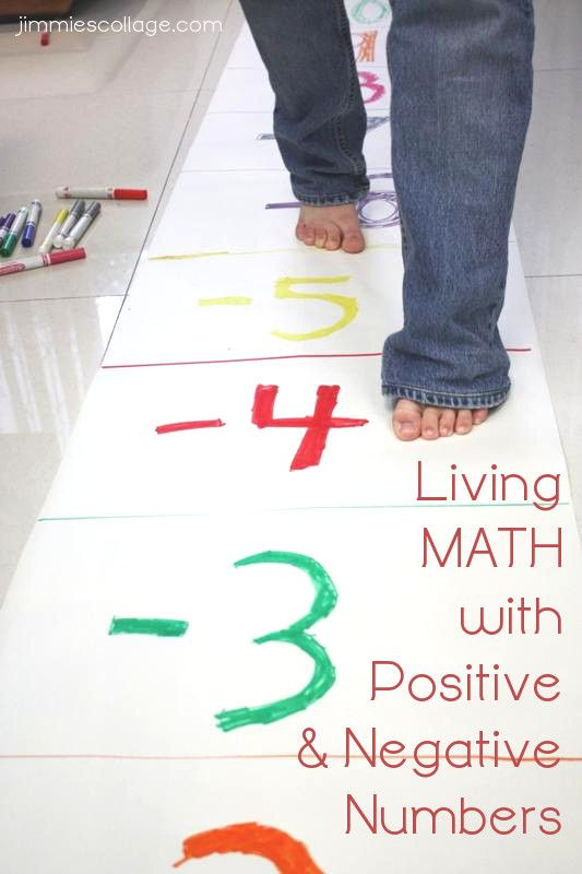 Living Math with Positive and Negative Numbers