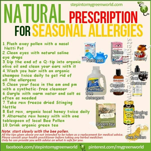 All Natural Remedy For Seasonal Allergies