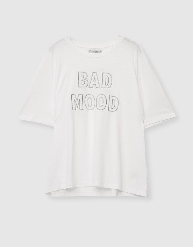 Text T-shirt - T-shirts - Clothing - Woman - PULL&BEAR United Kingdom