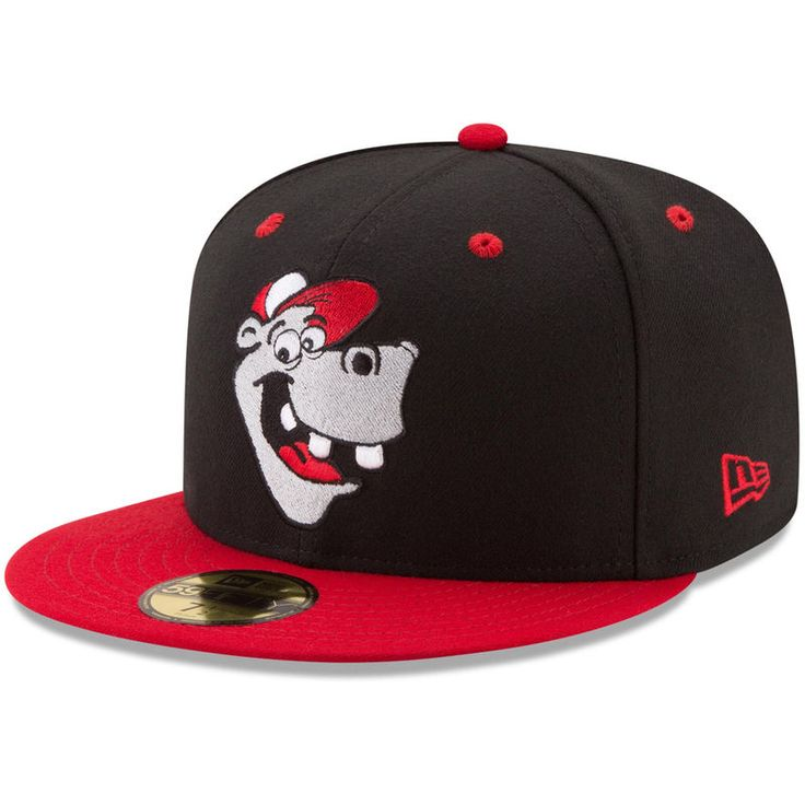 Jackson Generals New Era Theme Authentic Collection On-Field 59FIFTY Fitted Hat - Black/Red