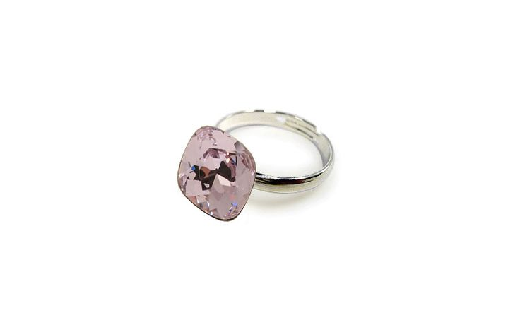 This Swarovski crystal is literally a rock! Big, bold and beautiful would characterize this incredible piece of adjustable ring that comes in so many shades. Pick yours!