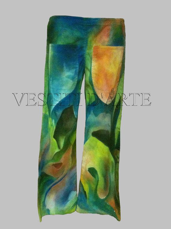 Clothing plus size clothing hand painted jeans by Vestitidarte