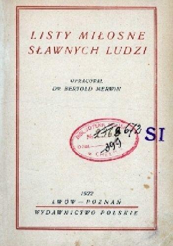 Okładka książki Listy Miłosne Sławnych Ludzi