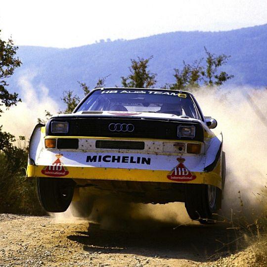 Audi Quattro S1 rally car