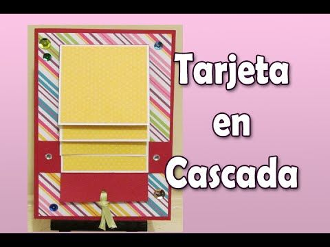 Tutorial Tarjeta en Cascada | Luisa PaperCrafts - YouTube
