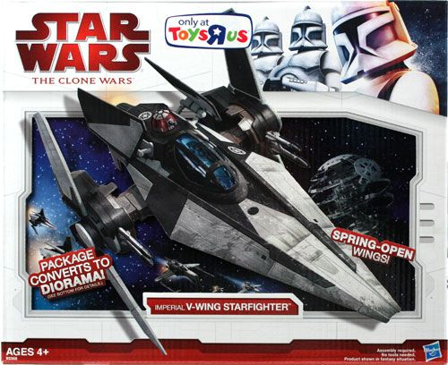 Star Wars The Clone Wars Toys : Clone wars vehicle boxed imperial v wing starfighter