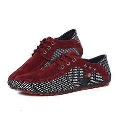 Venta caliente de Los Hombres Zapatos Mocasines 2016 Otoño Marca Red Suede Mocasines Planos Bajos Ocasionales de Conducción Zapatos Mocasines Comodidad Transpirable Negro