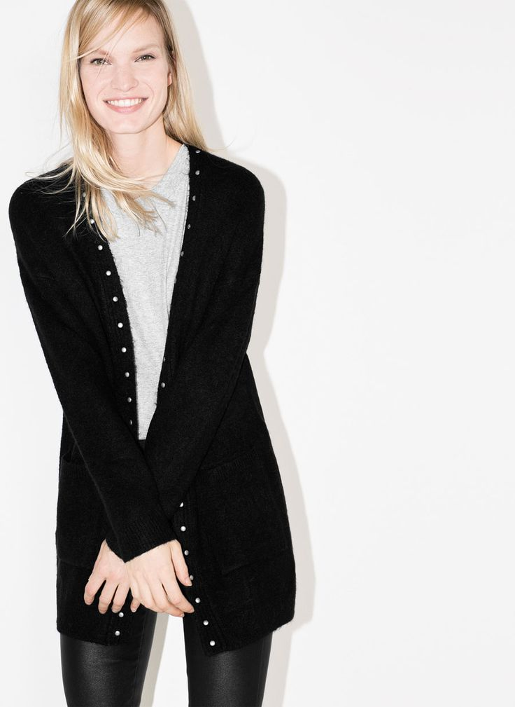 Uterqüe United Kingdom Product Page - Ready to wear - See all - Studded cardigan - 99.9