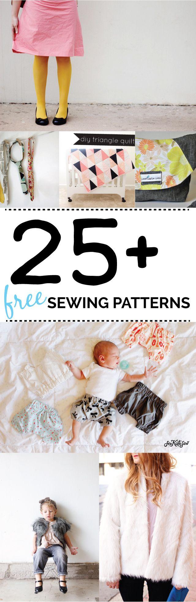 25 free sewing patterns