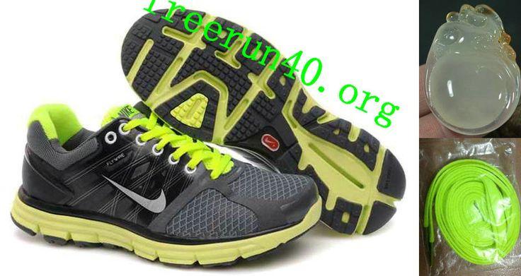 Mens Nike Lunarglide 2 Gray Fluorescence Green Shoes
