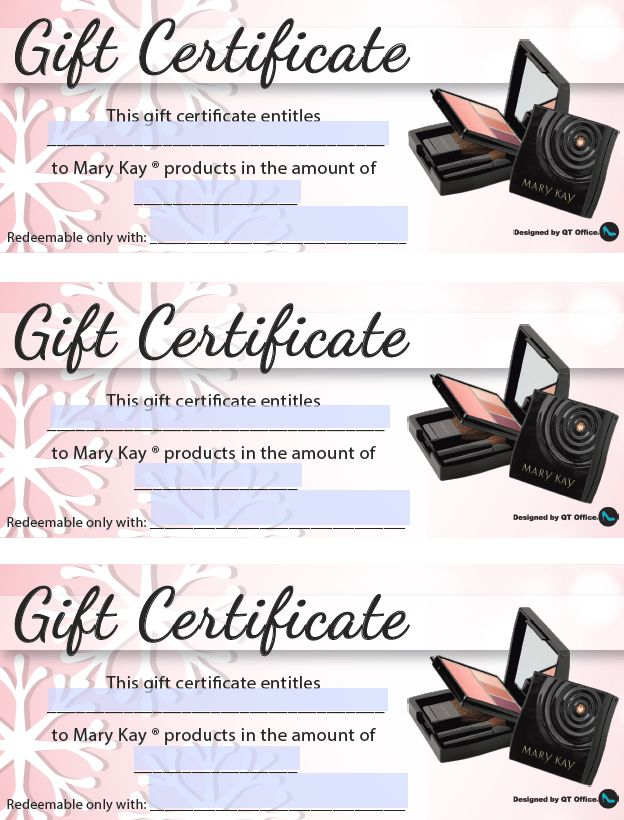 37 best images about Mary Kay Gift Certificates on ...