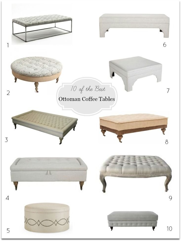 Ottoman Coffee Tables Ottomans And Tables