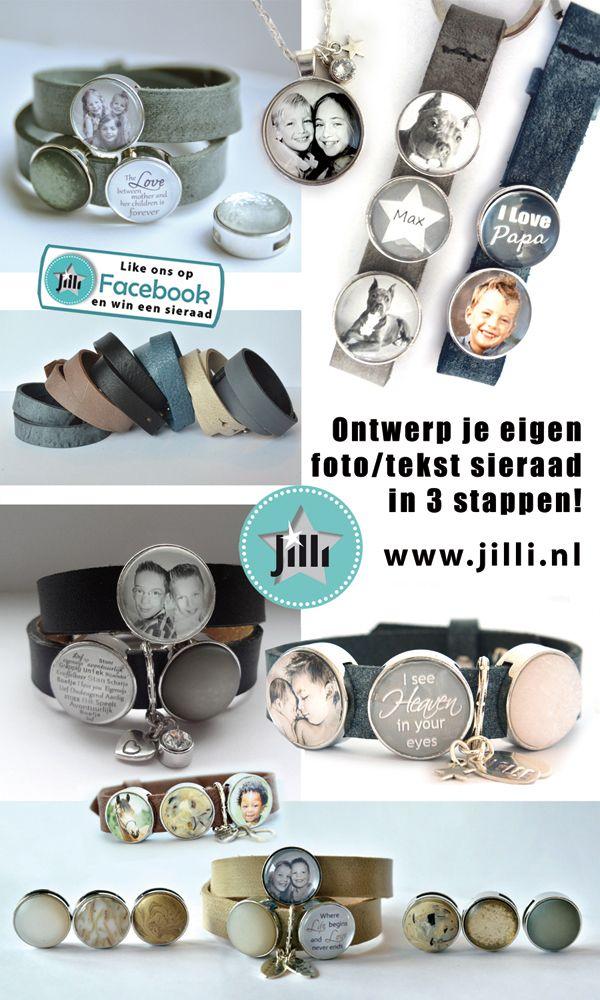 www.jilli.nl Persoonlijke foto sieraden
