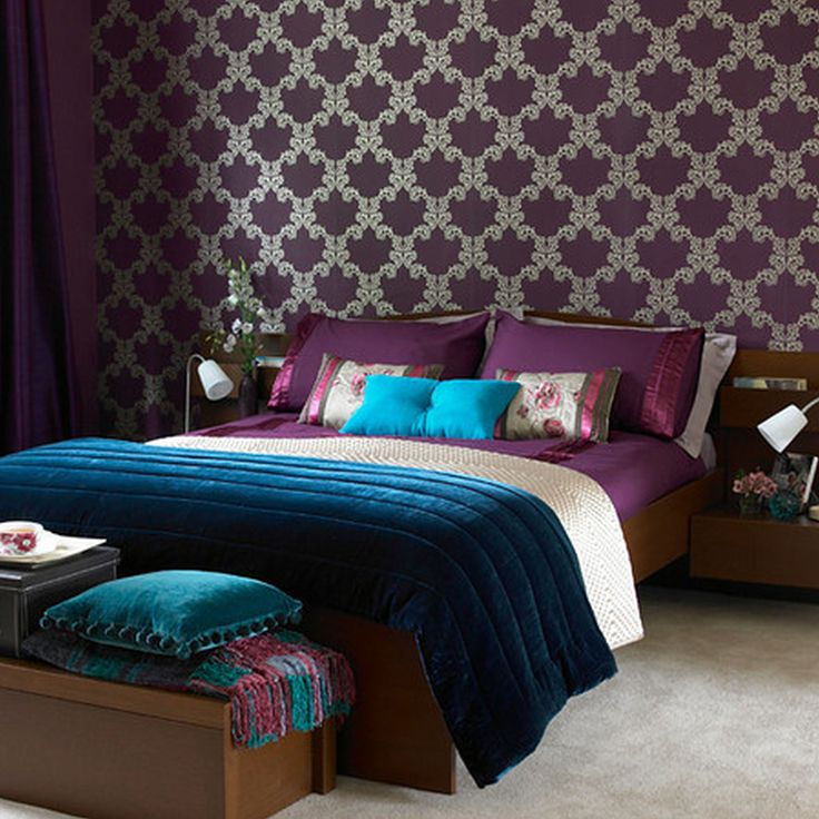 Awesome Archaic Romantic Bedroom Ideas Architecture Fair Bedroom Paint Color Ideas  Picturesque Color Mixture, Aubergine And Teal Bedroom Wallpaper Inspirinu2026