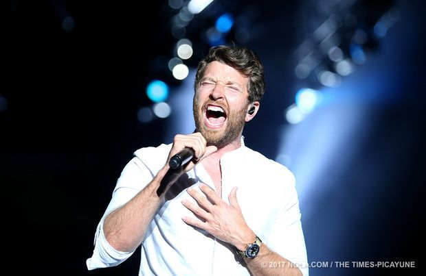 Brett Eldredge performs at Bayou Country Superfest in the Superdome on Saturday, May 27, 2017