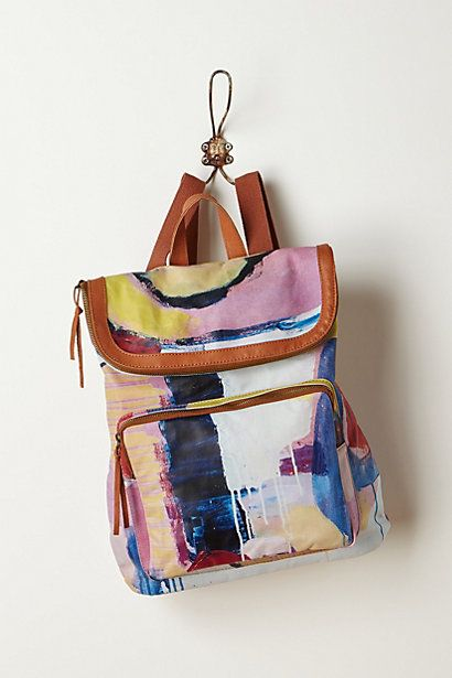 Artsy backpack! Abstraction Backpack #anthropologie