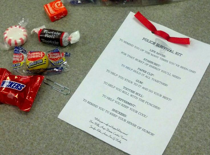 Police Survival Kit (candy) Police Pinterest