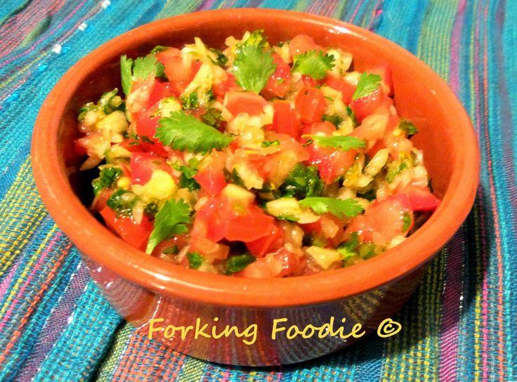 Forking Foodie: Fresh Mexican Salsa (Salsa Mexicana Cruda)