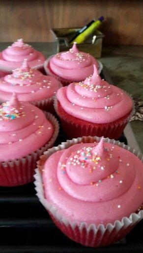 Strawberry nesquick cupcakes...hmmmmm