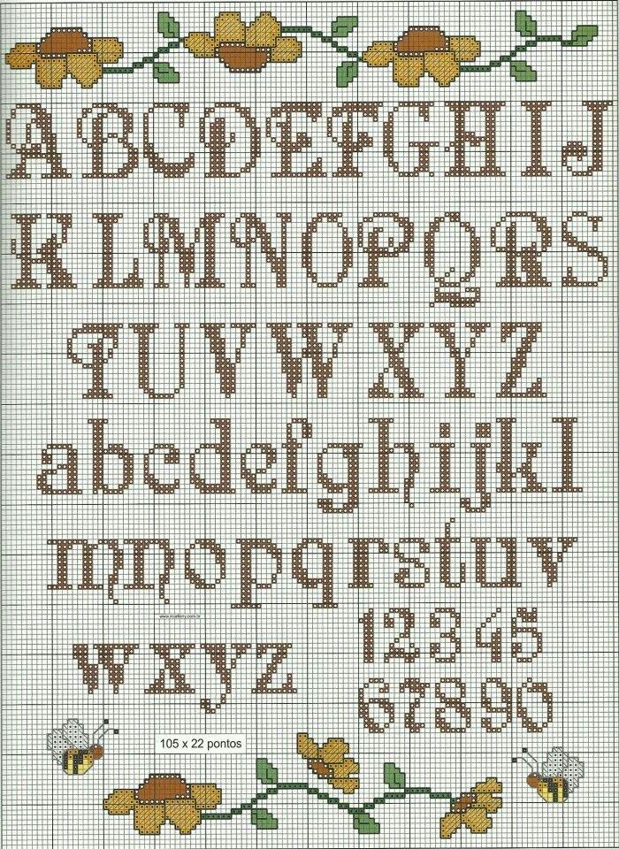 Alphabet & Bee  15 stitches