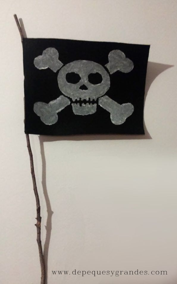 Cómo Hacer Una Bandera Pirata Bandera Pirata Piratas Bandera