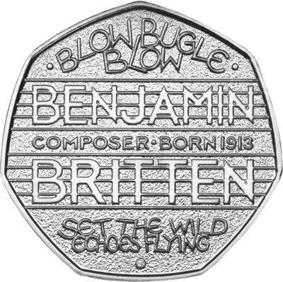 UK 2013 Benjamin Britten 50p #ChangeChecker #50p