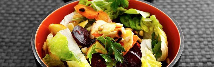Vintersalat - opskrift på salat med bagte rodfrugter