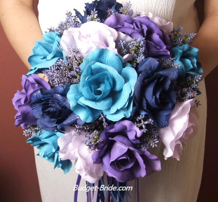 wedding bouquets | Royal blue wedding flowers pictures 4