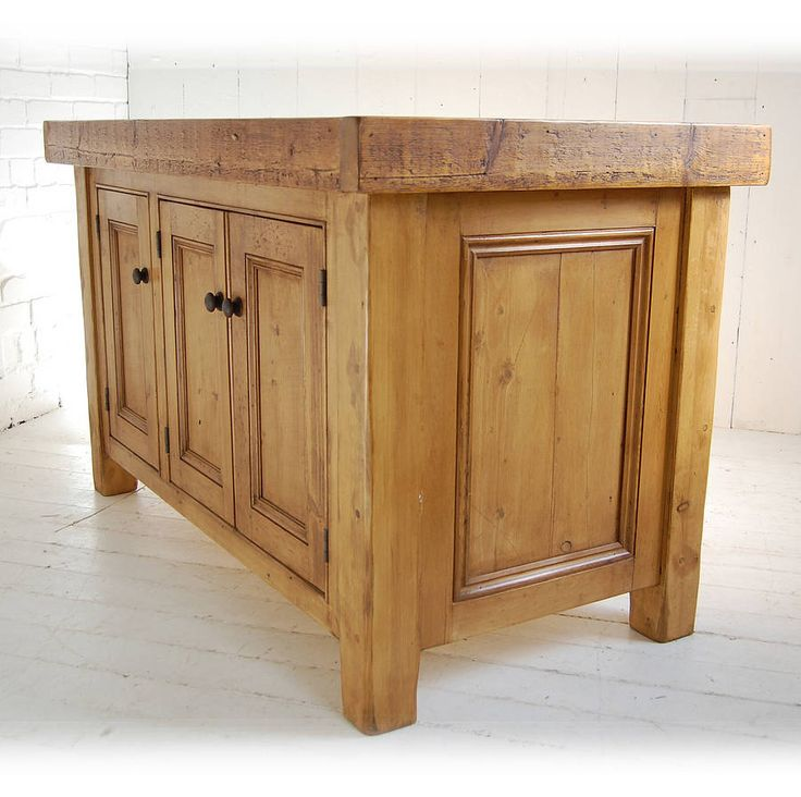 reclaimed solid wood kitchen island