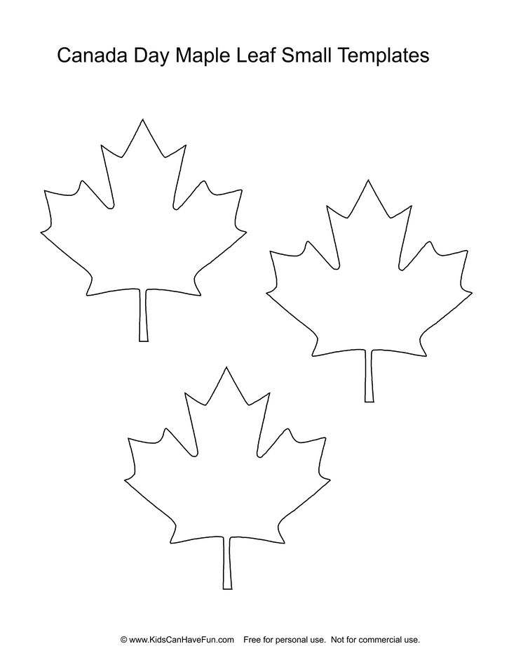 Small Canadian Maple Leaf Template