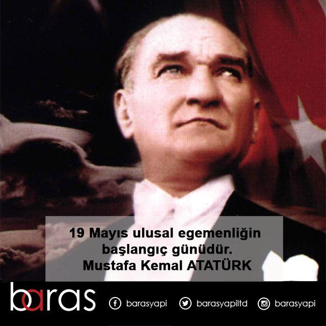 19 Mayıs Atatürk'ü Anma, Gençlik ve Spor Bayramımız Kutlu Olsun. #19Mayıs1919 #Atatürk #19Mayıs #iyibiseycom