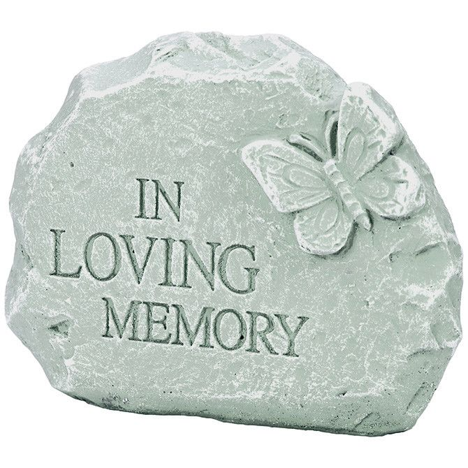 memorial garden stone in loving memory