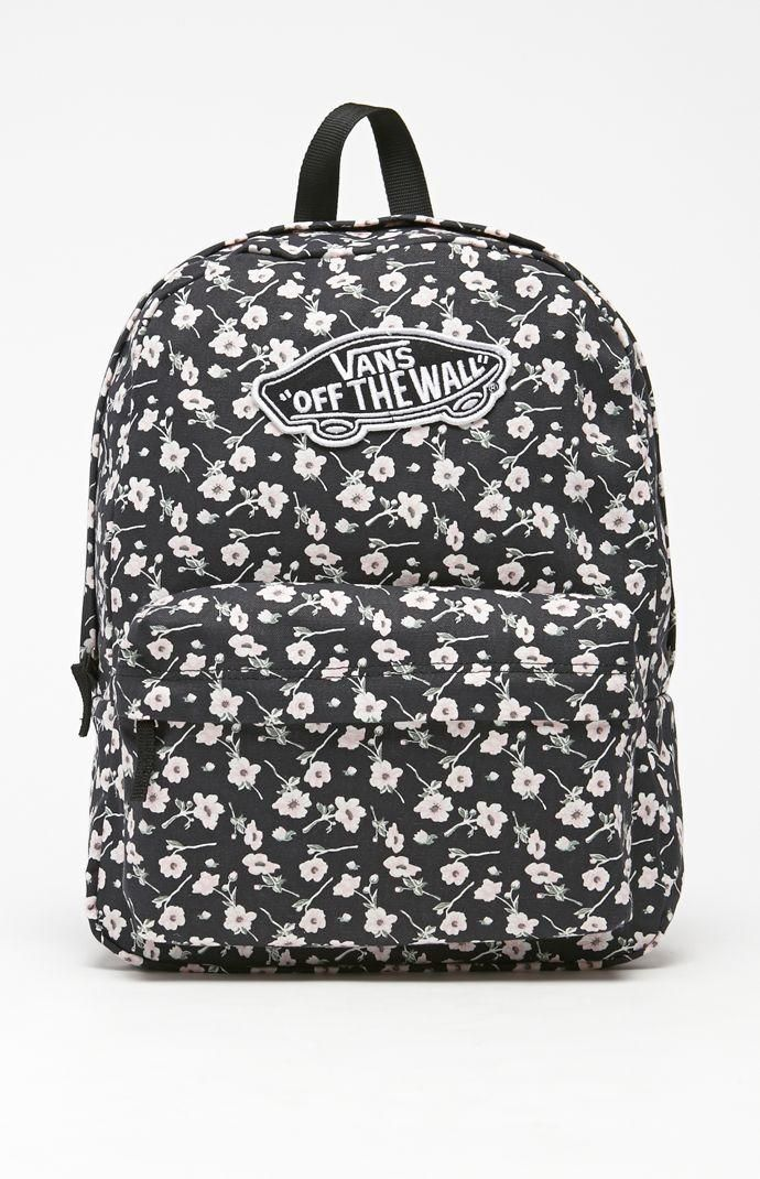 Vans Realm Graphite School Backpack - Womens Backpack - Graphite - NOSZ Vans Apparel - Vans Womens Backpack - Vans Realm Graphite Backpack Vans comes with an timeless look and individualized style with this backpack. The Realm Backpack comes with a 100% cotton construction with a large main