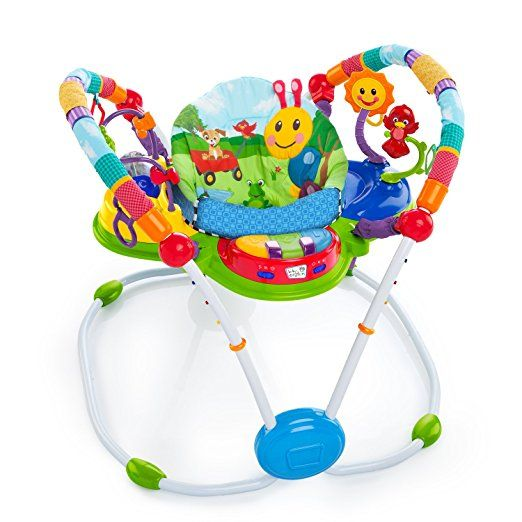 Baby Einstein Activity Jumper Special Edition  Little ones will jump with delight as they explore the neighborhood with their favorite Baby Einstein friends. The neighborhood friends activity jumper special edition has 12 plus activities that surround babies and encourage 360 degrees of fun multi-sensory experiences. The electronic piano has lights, volume control, and three modes: classical melodies, piano key tones, and language discovery in English, French, and Spanish.