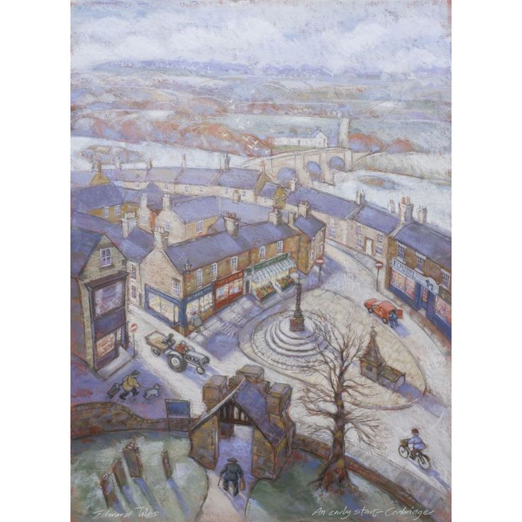 An Early Start - Corbridge signed limited edition print by Edward Tibbs