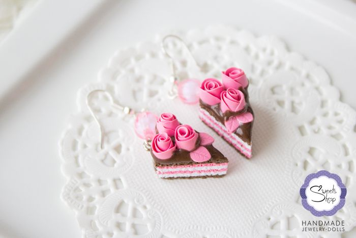 Серьги «Цветочный торт» |