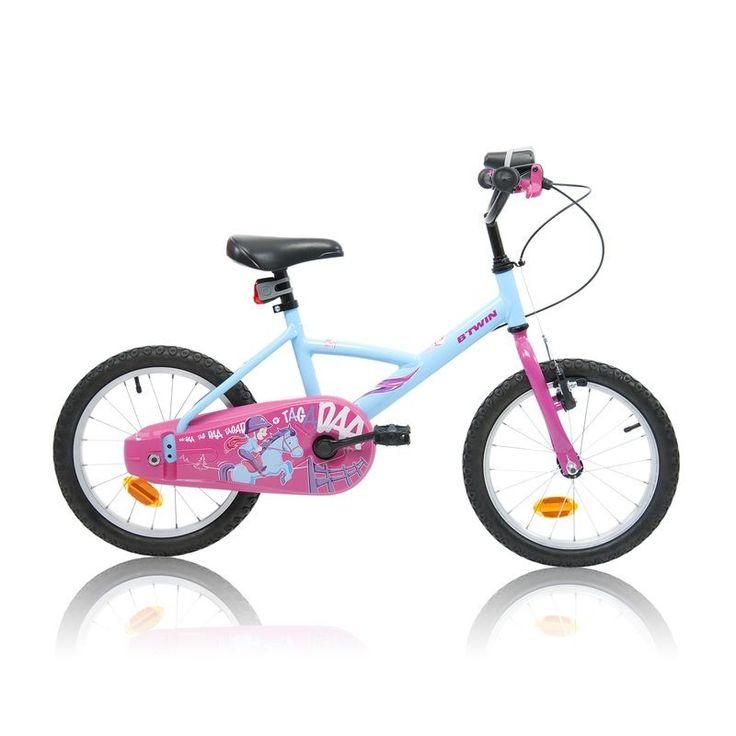 """£74.99 - All Bikes - 16"""" Wendy Pony, Kids Bike - B'TWIN"""