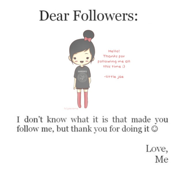 You are all appreciated for all that you do every day. Thank you for following me. ;) Sami