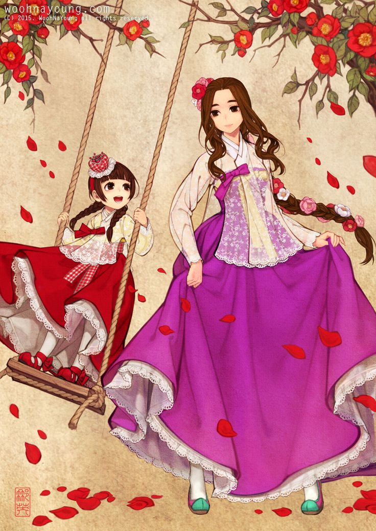 Royal Ladies 레이스 당의 Digital drawing, 2015 Dang'ui (Korean pronunciation: [daŋɯi]) is a type of upper garment for women in hanbok, Korean traditional clothing, which was worn for ceremonial occasions during the Joseon Dynasty. It was worn as a simple...