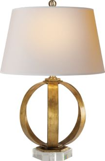 circa lighting - metal banded lamp: Table Lamps, Living Rooms, Bands Tables, Metals Bands, Gild Irons, Metals Table, Tables Lamps, Families Rooms, Circa Lights