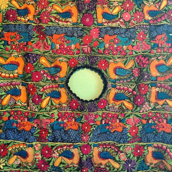 Vintage Native Highland Guatemalan Mayan woven Huipil blouse incredible embroidery
