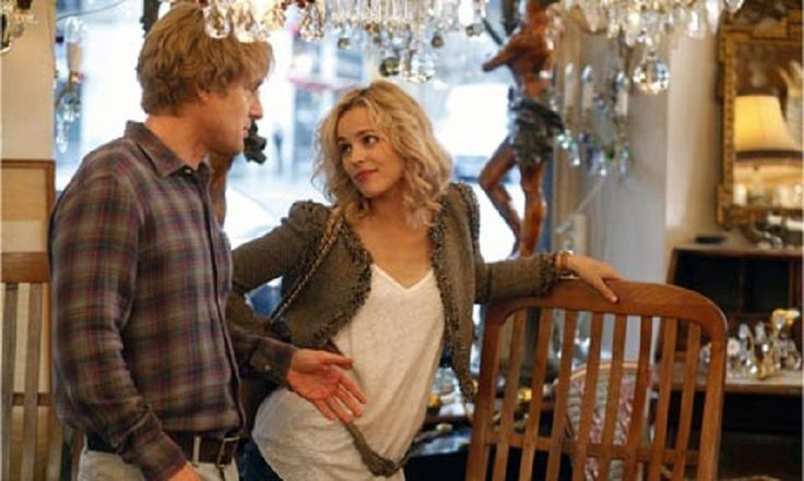 Midnight in Paris (2011)  Dir: Woody Allen Stars: Owen Wilson, Rachel McAdams, Kathy Bates, Kurt Fuller  While on a trip to Paris with his fiancée's family, a nostalgic screenwriter finds himself mysteriously going back to the 1920s every day at midnight.  Watch here: http://www.watchfree.to/watch-288b1f-Midnight-in-Paris-movie-online-free-putlocker.html