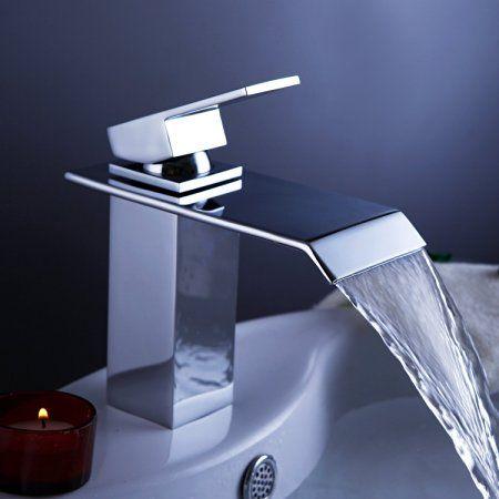 Hiendure® Grifo Lavabo cuarto de baño contemporáneo cascada grifo del fregadero…